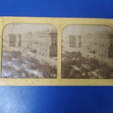Fotografía antigua: ANTIGUA FOTOGRAFIA ESTEREOSCOPICA PALACIO DE LA REINA MADRID. Lote 269714438