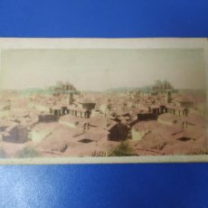 Fotografía antigua: ANTIGUA FOTOGRAFIA ESTEREOSCOPICA COLOREADA VISTA GENERAL GRANADA. Lote 269716868