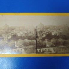 Fotografía antigua: ANTIGUA FOTOGRAFIA ESTEREOSCOPICA GRANADA PANORAMICA DE LA ALHAMBRA. Lote 269717158
