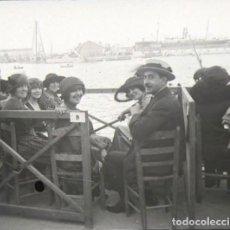 Fotografía antigua: BARCELONA PUERTO CLUB NAUTICO NEGATIVO CRISTAL 4.5 X 10 CM.. Lote 270224413