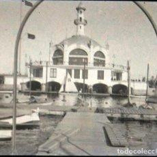 Fotografía antigua: BARCELONA PUERTO CLUB NAUTICO NEGATIVO CRISTAL 4.5 X 10 CM.. Lote 270224958