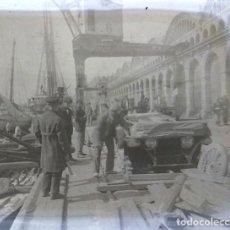 Fotografía antigua: BARCELONA PUERTO NEGATIVO CRISTAL 4.5 X 10 CM.. Lote 270225223