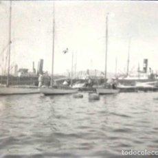 Fotografía antigua: BARCELONA PUERTO NEGATIVO CRISTAL 4.5 X 10 CM.. Lote 270225488