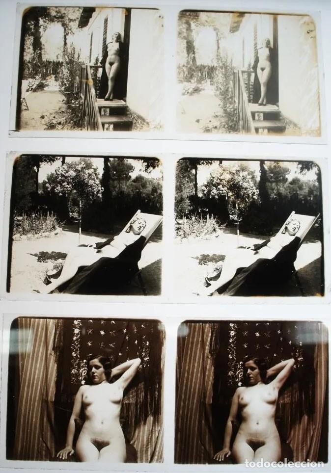 Fotografía antigua: Fotografías eróticas artísticas - Colección de 19 fotografías estereoscópicas - Ca.1900 - Foto 3 - 272998978