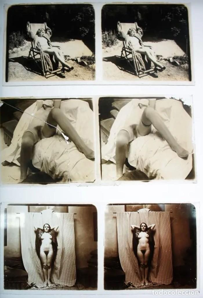 Fotografía antigua: Fotografías eróticas artísticas - Colección de 19 fotografías estereoscópicas - Ca.1900 - Foto 4 - 272998978