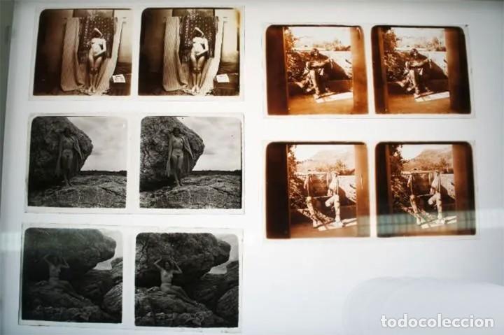 Fotografía antigua: Fotografías eróticas artísticas - Colección de 19 fotografías estereoscópicas - Ca.1900 - Foto 5 - 272998978