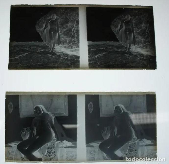 Fotografía antigua: Fotografías eróticas artísticas - Colección de 19 fotografías estereoscópicas - Ca.1900 - Foto 6 - 272998978