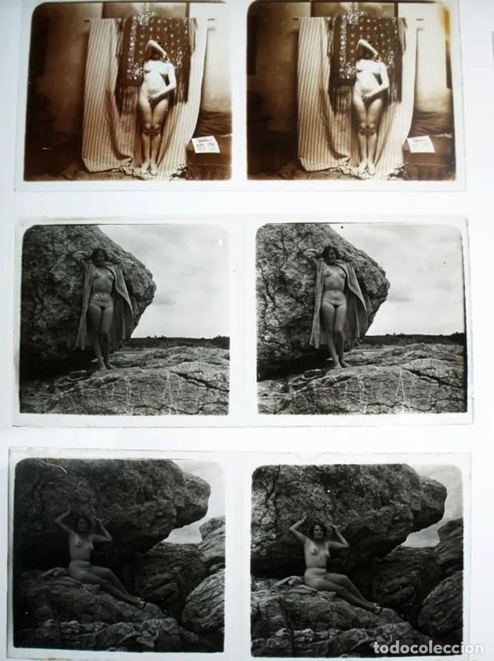 Fotografía antigua: Fotografías eróticas artísticas - Colección de 19 fotografías estereoscópicas - Ca.1900 - Foto 7 - 272998978