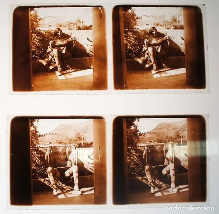 Fotografía antigua: Fotografías eróticas artísticas - Colección de 19 fotografías estereoscópicas - Ca.1900 - Foto 9 - 272998978