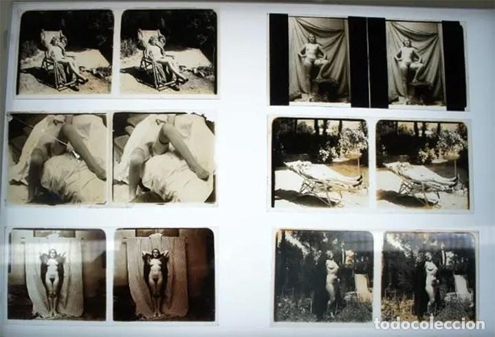 Fotografía antigua: Fotografías eróticas artísticas - Colección de 19 fotografías estereoscópicas - Ca.1900 - Foto 10 - 272998978