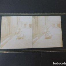 Fotografia antica: BUENAVISTITA ALICANTE J. VIUDES FOTOGRAFO TRINIDAD VIUDES VISTA ESTEREOSCOPICA HACIA 1890. Lote 275447908