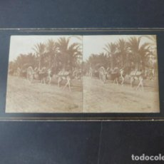 Fotografia antica: ALICANTE CARRO TRANSPORTE Y PALACIO MARQUES RIOFLORIDO VIUDES FOTOGRAFO VISTA ESTEREOSCOPICA H. 1890. Lote 275448838