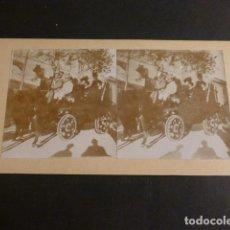 Fotografia antica: MURCIA BATALLA DE FLORES COCHE MARQUES RIOFLORIDO VIUDES FOTOGRAFO VISTA ESTEREOSCOPICA H. 1890. Lote 275453553