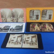 Photographie ancienne: LOTE 5 FOTOGRAFIAS ESTEREOSCOPICA ANTIGUAS DIFERENTES - PARIS FRANCIA. Lote 275749773