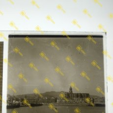 Fotografia antica: PLACA ESTEREOSCÓPICA CRISTAL EN POSITIVO PUERTO DE MÁLAGA SOBRE EL AÑO 1900.. Lote 275906233