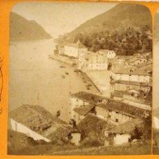 Fotografía antigua: SAN SEBASTIAN S XIX FOTOGRAFIA ESTEROSCOPICA ENTRADA PUERTO GUIPUZCOA. Lote 277211308
