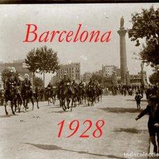 Fotografía antigua: BARCELONA . DESFILE MILITAR - DRAGONES - 1928 - NEGATIVO DE VIDRIO. Lote 278464463