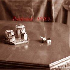 Fotografía antigua: PUBLICIDAD - 1930'S - NEGATIVO DE VIDRIO. Lote 278473313