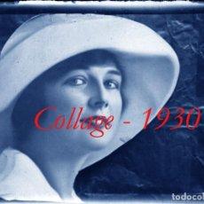 Fotografía antigua: COLLAGE - 1930'S - NEGATIVO DE VIDRIO. Lote 278576873