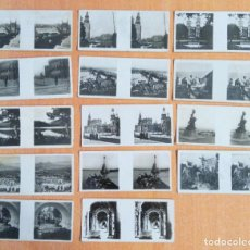 Fotografía antigua: LOTE DE 14 FOTOGRAFÍAS ESTEREOSCÓPICAS. ALBÚM ESTEREOSCÓPICO GALLETAS Y CHOCOLATES SOLSONA-RIUS. Lote 287910478