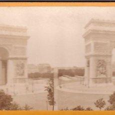 Fotografía antigua: ESTEREOSCOPICA ALBUMINA PARIS NOUVEAU ARCO DE TRIUNFO.. Lote 287924678