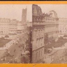 Fotografía antigua: ESTEREOSCOPICA ALBUMINA PARIS NOUVEAU. FOTÓGRAFO N. C. A PARIS. CALLE DE RIVOLI. Lote 287925403