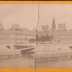 Fotografía antigua: ESTEREOSCOPICA ALBUMINA PARIS NOUVEAU. FOTÓGRAFO N. C. A PARIS. AYUNTAMIENTO. Lote 287925573