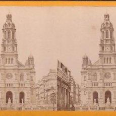 Fotografía antigua: ESTEREOSCOPICA ALBUMINA PARIS NOUVEAU. FOTÓGRAFO N. C. A PARIS. LA TRINIDAD. Lote 287925908