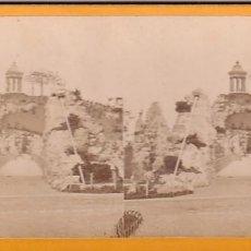 Fotografía antigua: ESTEREOSCOPICA ALBUMINA PARIS NOUVEAU. FOTÓGRAFO N. C. A PARIS. BUTTES CHAUMONT. Lote 287926158