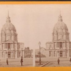 Fotografía antigua: ESTEREOSCOPICA ALBUMINA PARIS NOUVEAU. FOTÓGRAFO N. C. A PARIS. INVALIDOS. Lote 287926663