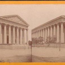 Fotografía antigua: ESTEREOSCOPICA ALBUMINA PARIS NOUVEAU. FOTÓGRAFO N. C. A PARIS. MADELEINE. Lote 287926728