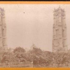 Fotografía antigua: ESTEREOSCOPICA ALBUMINA PARIS NOUVEAU. FOTÓGRAFO N. C. A PARIS. COUR SAINT JACQUES. Lote 287926973