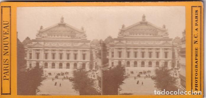 ESTEREOSCOPICA ALBUMINA PARIS NOUVEAU. FOTÓGRAFO N. C. A PARIS. OPERA (Fotografía Antigua - Estereoscópicas)