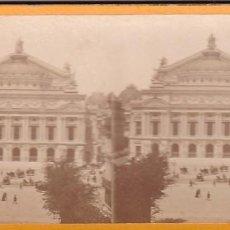 Fotografía antigua: ESTEREOSCOPICA ALBUMINA PARIS NOUVEAU. FOTÓGRAFO N. C. A PARIS. OPERA. Lote 287927038