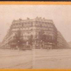 Fotografía antigua: ESTEREOSCOPICA ALBUMINA PARIS NOUVEAU. FOTÓGRAFO N. C. A PARIS. AVENIDA OPERA. Lote 287927578