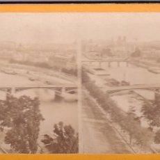 Fotografía antigua: ESTEREOSCOPICA ALBUMINA PARIS NOUVEAU. FOTÓGRAFO N. C. A PARIS. VISTA GENERAL. Lote 287927723