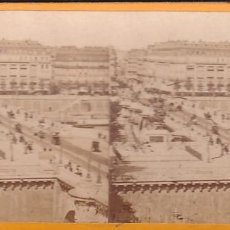 Fotografía antigua: ESTEREOSCOPICA ALBUMINA PARIS NOUVEAU. FOTÓGRAFO N. C. A PARIS. PUENTE. Lote 287928503