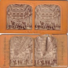 Fotografía antigua: 2 ESTEREOSCOPICAS ALBUMINA TISSUE O TRANSPARENTE PARIS OPERA. Lote 287929298