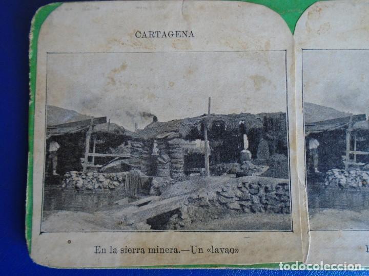 (ES-190910)ESTEREOSCOPICA DE CARTAGENA-EN LA SIERRA MINERA.UN LAVAO (Fotografía Antigua - Estereoscópicas)