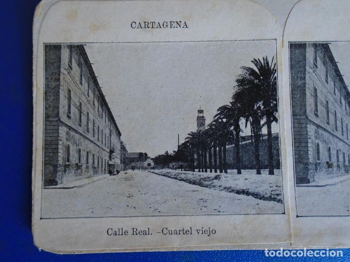(ES-190910 A)ESTEREOSCOPICA DE CARTAGENA-CUARTEL VIEJO (Fotografía Antigua - Estereoscópicas)