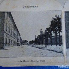 Fotografía antigua: (ES-190910 A)ESTEREOSCOPICA DE CARTAGENA-CUARTEL VIEJO. Lote 288506558