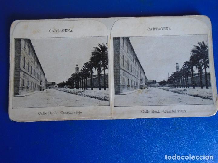 Fotografía antigua: (ES-190910 A)ESTEREOSCOPICA DE CARTAGENA-CUARTEL VIEJO - Foto 2 - 288506558