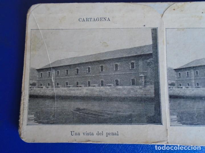 (ES-190911)ESTEREOSCOPICA DE CARTAGENA-UNA VISTA DEL PENAL (Fotografía Antigua - Estereoscópicas)