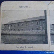 Fotografía antigua: (ES-190911)ESTEREOSCOPICA DE CARTAGENA-UNA VISTA DEL PENAL. Lote 288506893