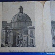 Fotografía antigua: (ES-190912)ESTEREOSCOPICA DE CARTAGENA-IGLESIA DE LA CARIDAD. Lote 288507013
