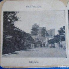 Fotografía antigua: (ES-190914)ESTEREOSCOPICA DE CARTAGENA-GLORIETA. Lote 288507338