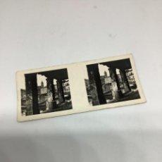 Fotografia antica: BERMEO, DETALLE DEL PUERTO 999 FOTO ESTEREOSCÓPICA GALLETAS SOLSONA. ESPAÑA Y SUS BELLEZAS.. Lote 289912908