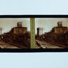 Fotografia antiga: BENISANO, VALENCIA, CASTILLO - PLACA POSITIVO EN CRISTAL ESTEREOSCOPICO - AÑOS 1920-1930, DOM. URIEL. Lote 293336163