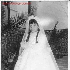 Fotografía antigua: PRECIOSA NIÑA DE COMUNIÓN MIDE 16CM X 11CM . Lote 6838513