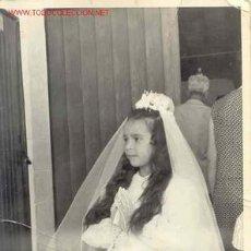 Fotografía antigua: LINDA NIÑA DE COMUNIÓN MIDE 18CM X 12. Lote 6838530